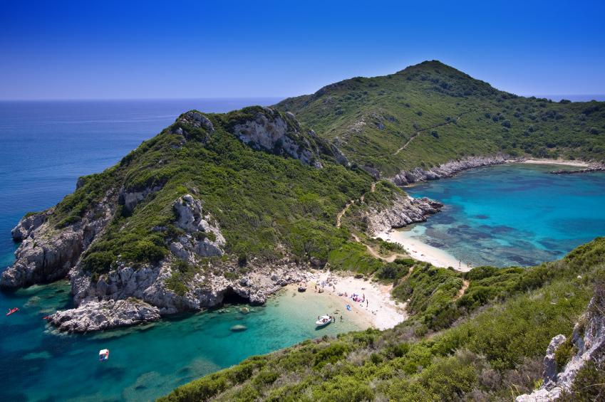 A Corfu holiday should include a day on isolated beaches like these ones!